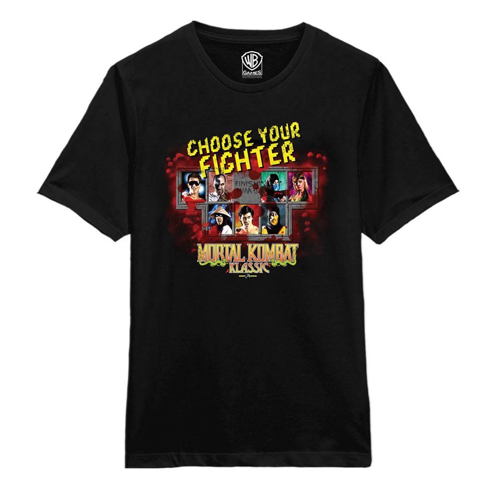 Mortal Kombat T-Shirt Choose Fighter  Size M