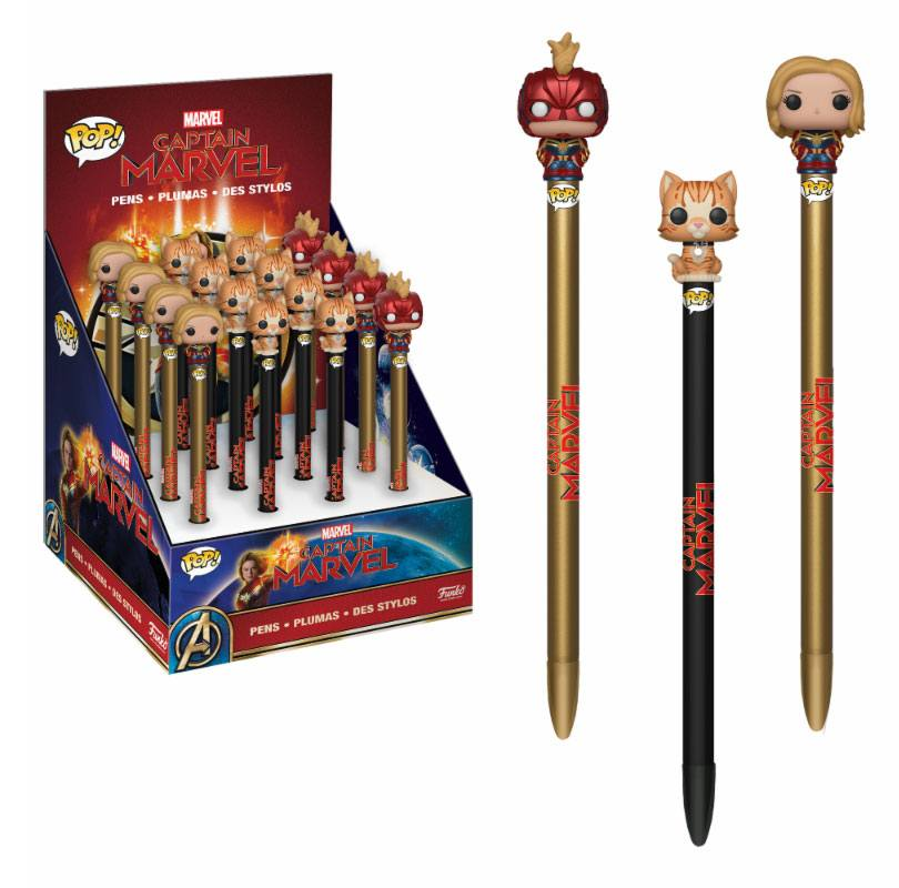 Captain Marvel POP! Homewares Pens with Toppers Display (16)