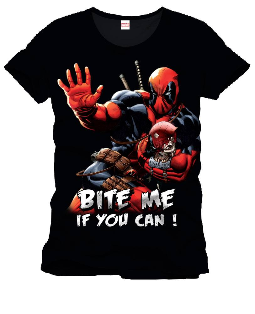 Deadpool T-Shirt Bite Me Size XXL