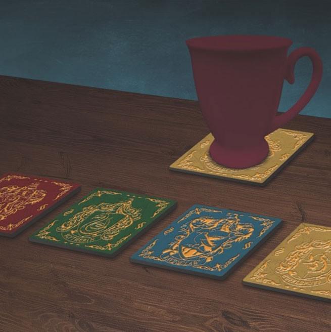 Harry Potter Coaster 4-Pack Houses Crests