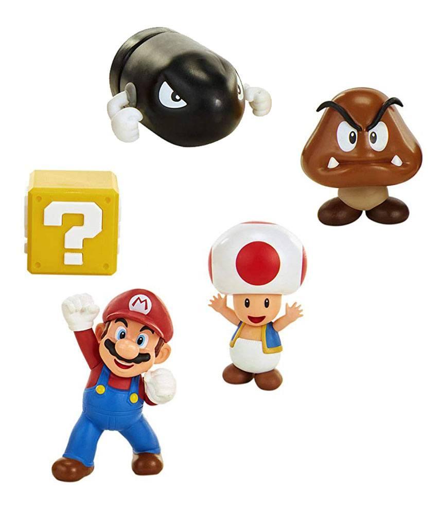 World of Nintendo Mini Figure 5-Pack New Super Mario Bros. U Acorn Plains 6 cm