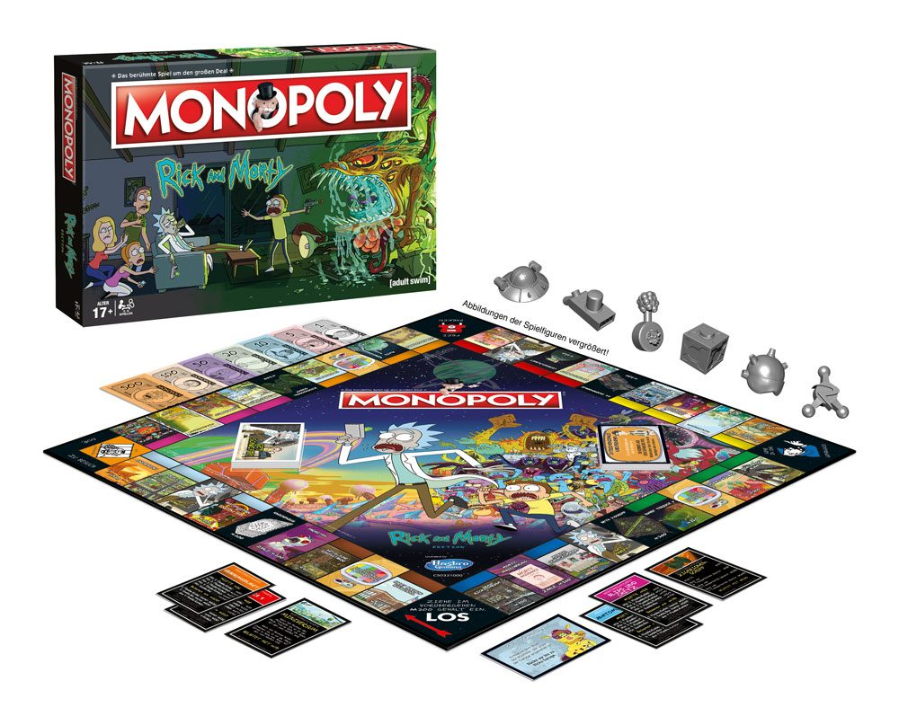 Rick and Morty Board Game Monopoly *German Version*