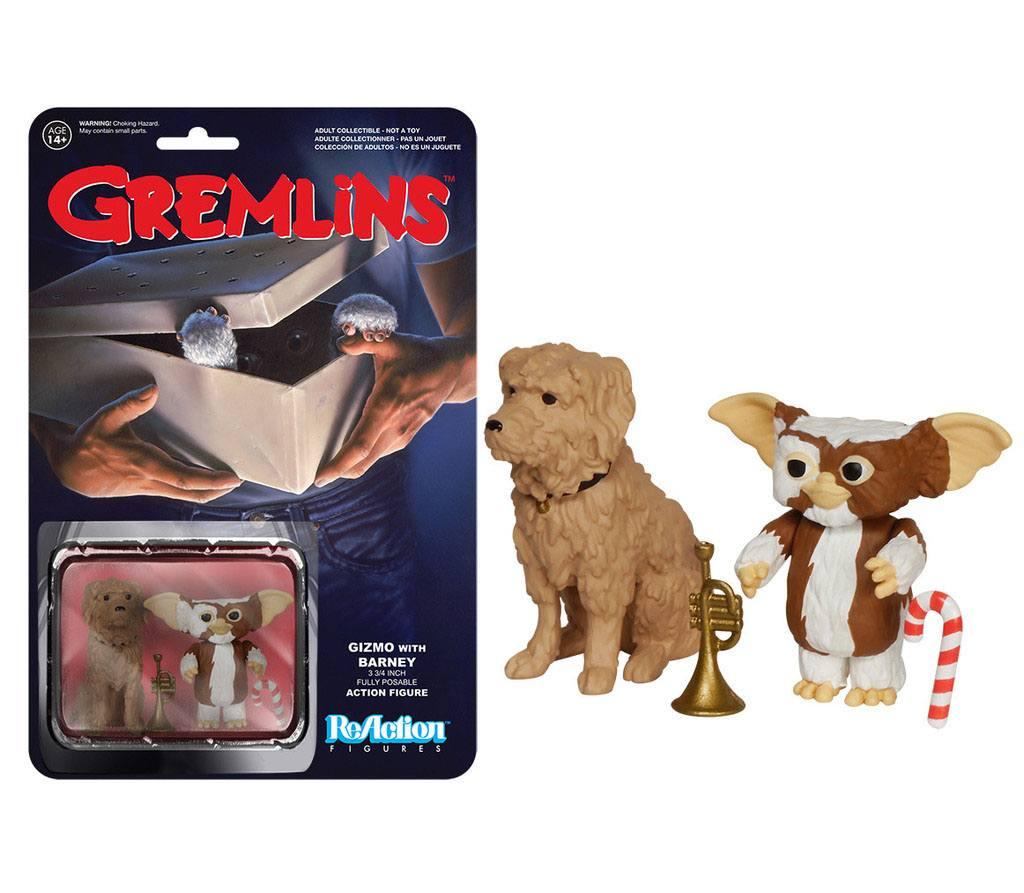 Gremlins ReAction Action Figure Gizmo & Barney 6 cm