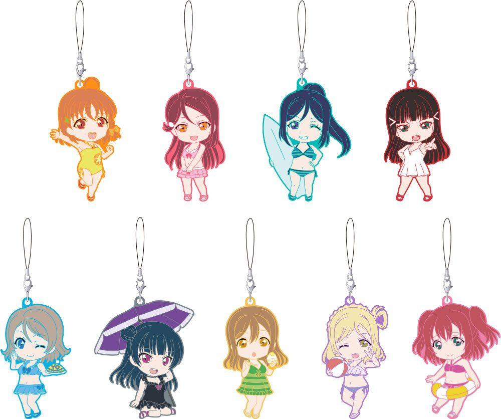 LoveLive! Sunshine!! Nendoroid Plus Rubber Charms 6 cm Assortment Swimsuit Ver. (9)