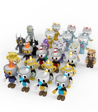 Cuphead Construction Set Blind Box Figures Series 1 Display (24)