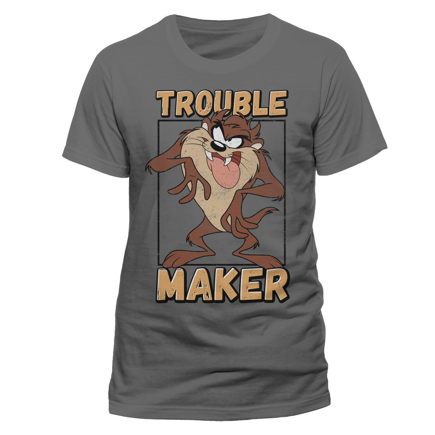 Looney Tunes T-Shirt Taz Trouble Maker Size M