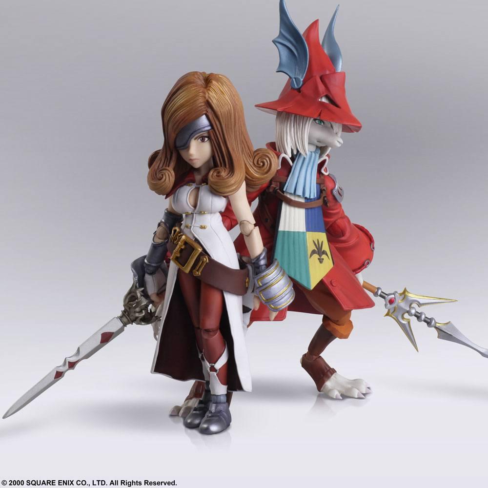 Final Fantasy IX Bring Arts Action Figures Freya Crescent & Beatrix 12 - 16 cm