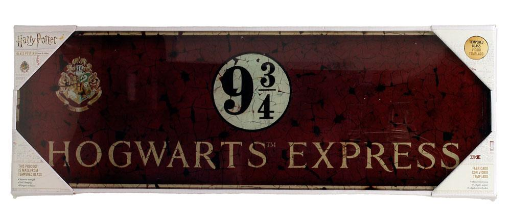 Harry Potter Glass Poster Hogwarts Express 60 x 20 cm