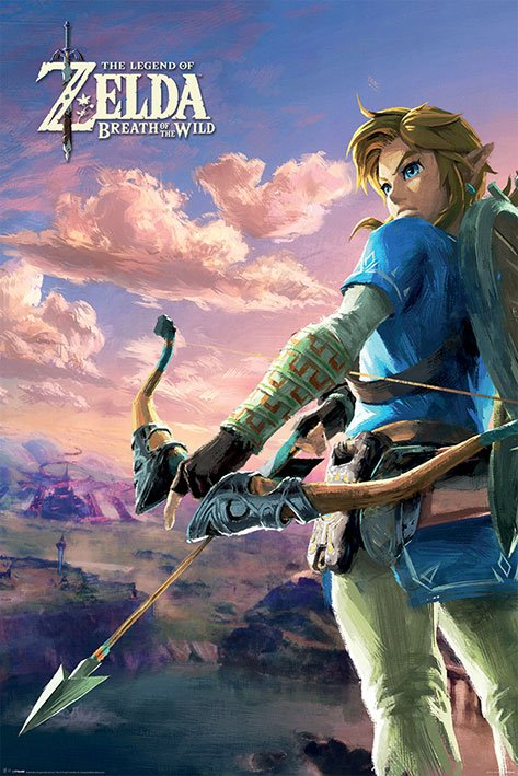 Legend of Zelda Breath of the Wild Poster Pack Hyrule Scene Landscape 61 x 91 cm (5)