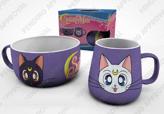 Sailor Moon Breakfast Set Luna & Artemis