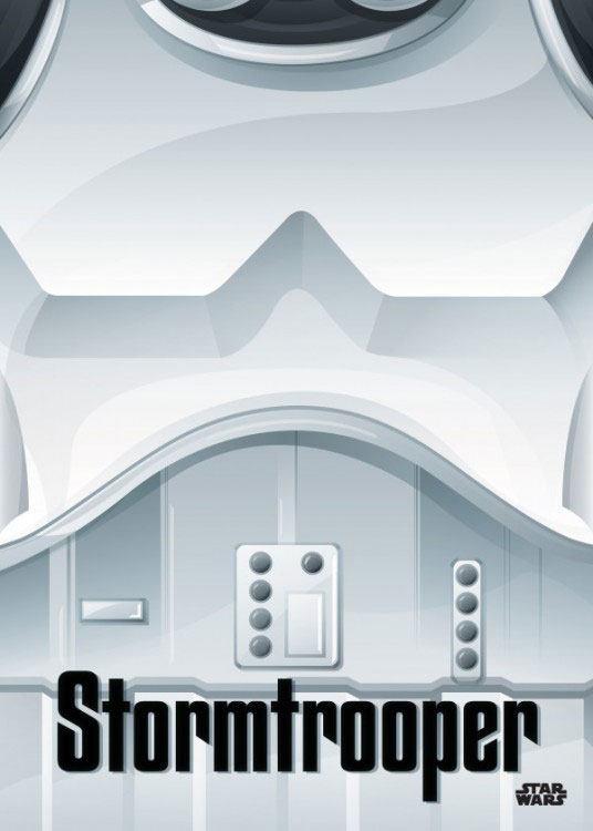 Star Wars Metal Poster Minimalist Stormtrooper 32 x 45 cm