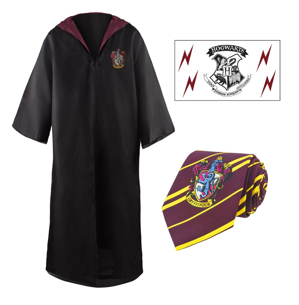 Harry Potter  Robe, Nectie & Tattoo Set Gryffindor Size L