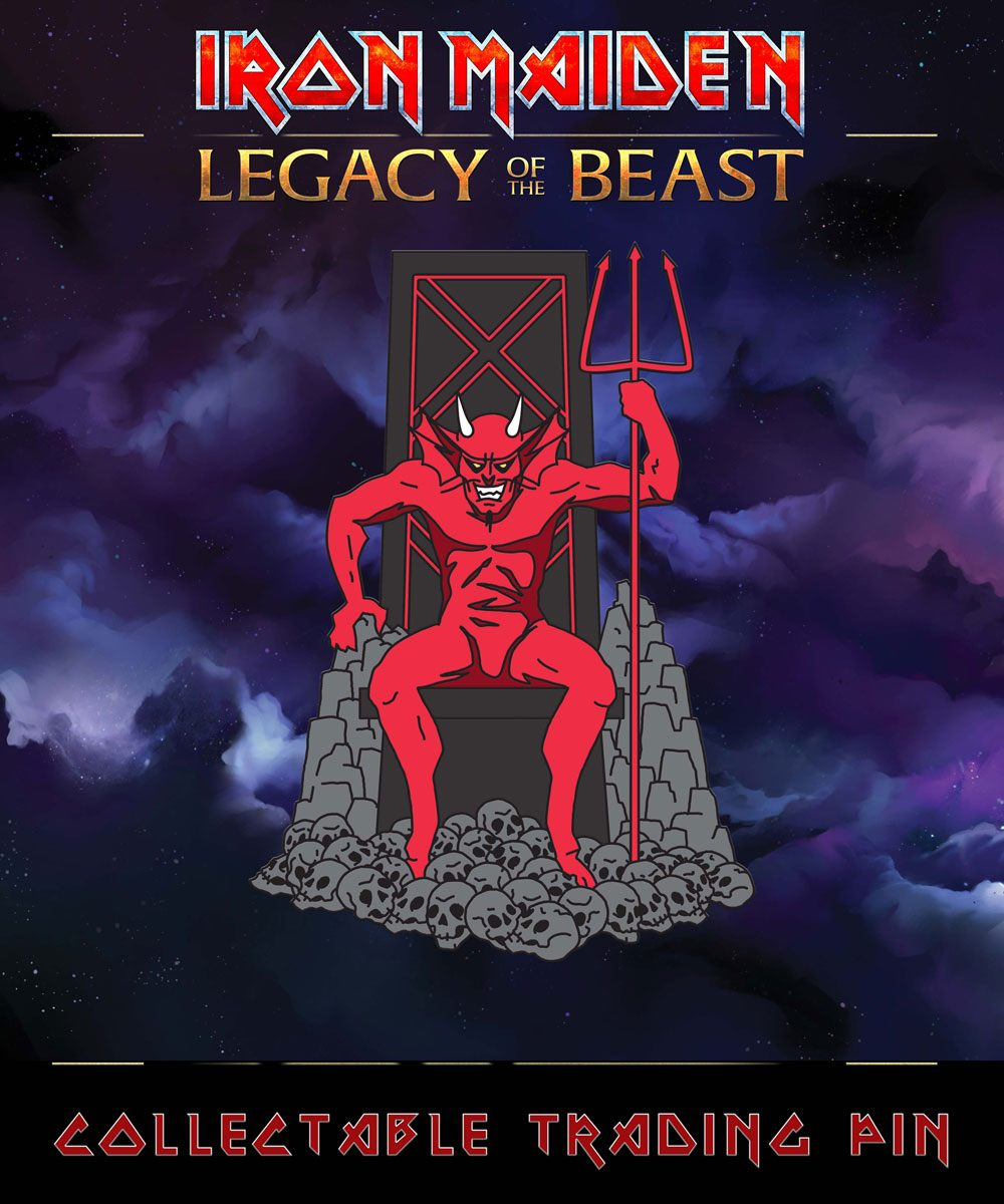 Iron Maiden Legacy of the Beast Pin Badge The Beast