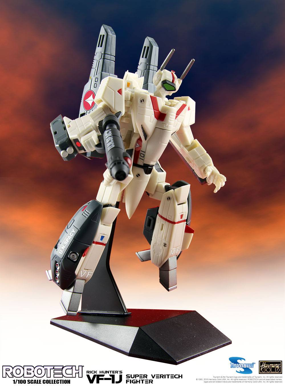 Robotech Super Veritech Fighter Collection Action Figure 1/100 VF-1J Rick Hunter 15 cm