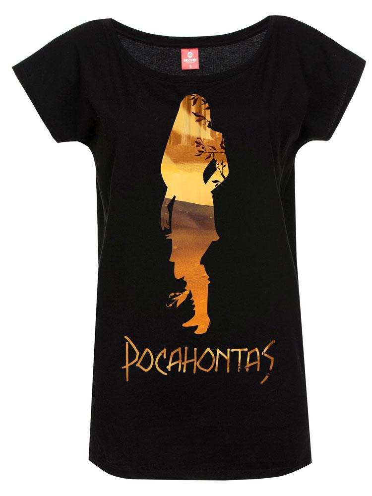 Pocahontas Ladies T-Shirt In The Woods Size XL