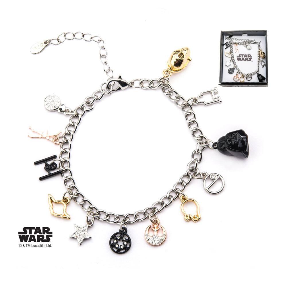 Star Wars Multi Charm Bracelet Symbols