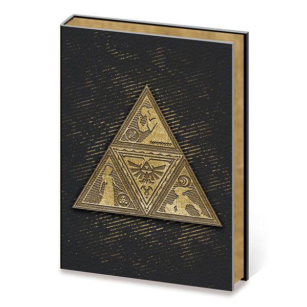 Legend of Zelda Metal Embellished Premium Journal A5 Metal TriForce