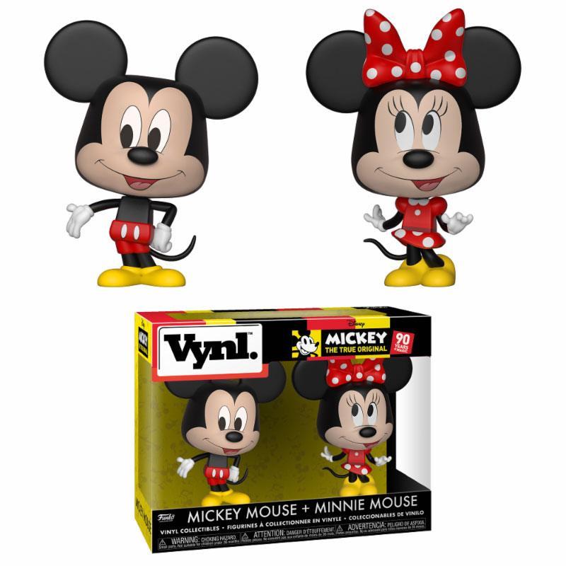 Disney VYNL Vinyl Figures 2-Pack Mickey Mouse & Minnie Mouse 10 cm