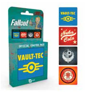 Fallout Coaster 4-pack Mix