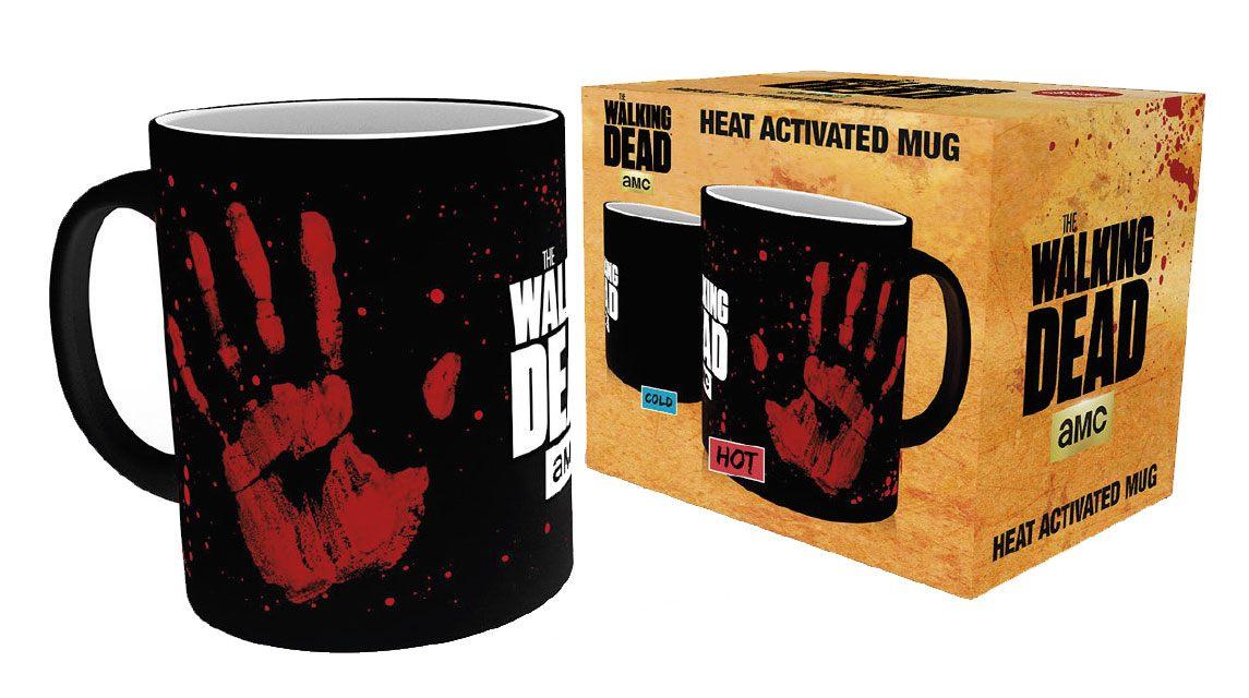 Walking Dead Heat Change Mug Hand Print