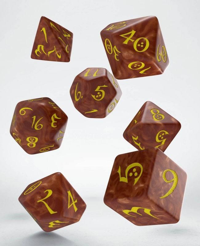 Classic RPG Dice Set caramel & yellow (7)
