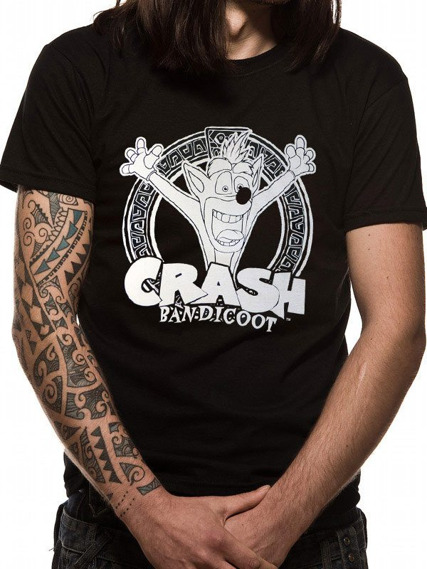 Crash Bandicoot T-Shirt Black And White Size XL