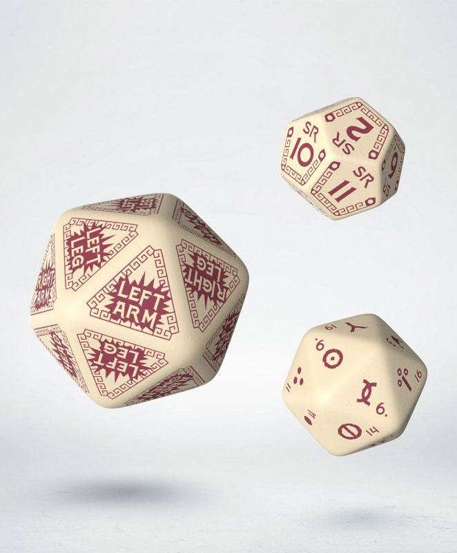 RuneQuest Dice Expension Set beige & burgundy (3)