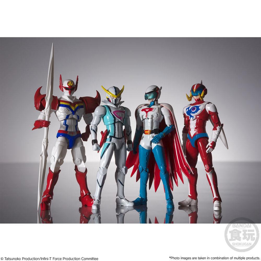 Infini-T Force Shodo Action Figures 4-Pack 10 cm