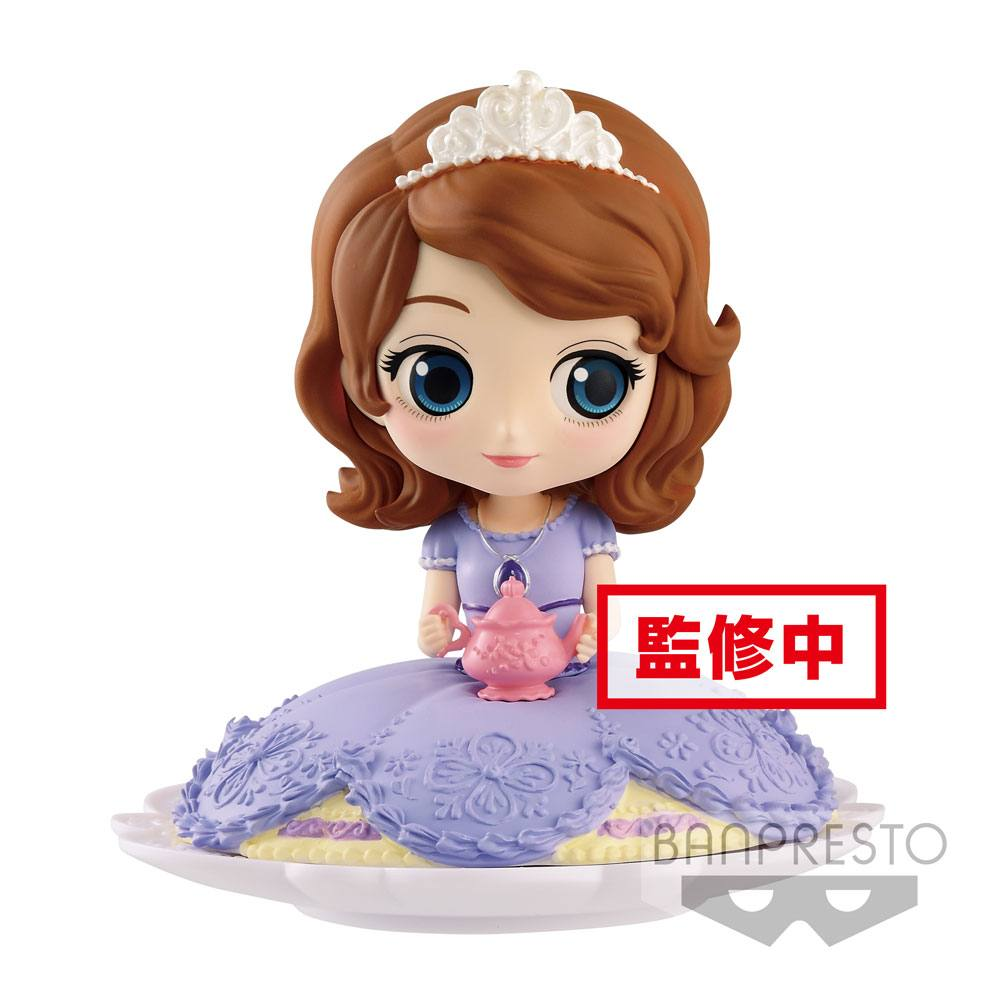 Disney Q Posket SUGIRLY Mini Figure Sofia Normal Color Ver. 9 cm