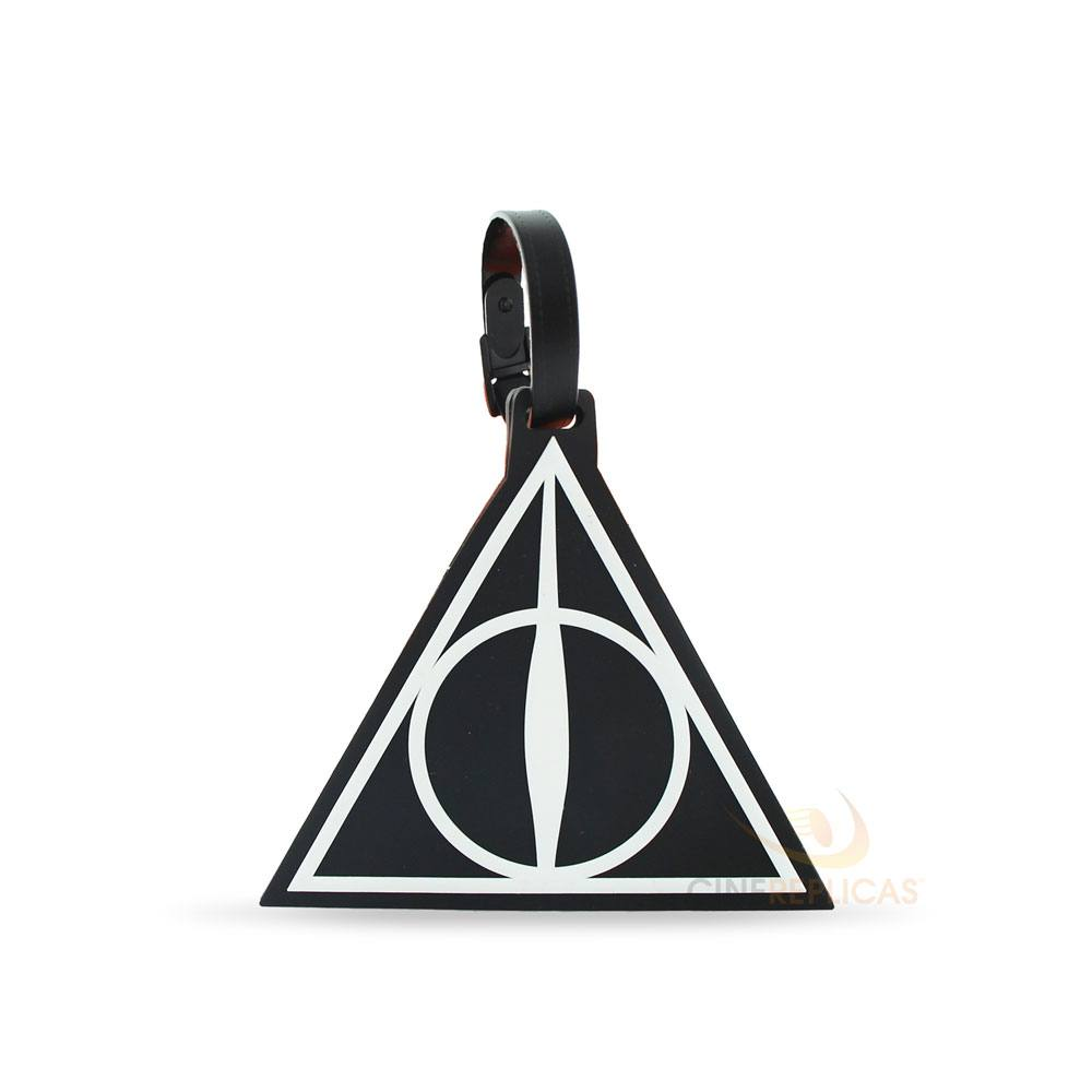 Harry Potter Rubber Luggage Tag Deathly Hallows