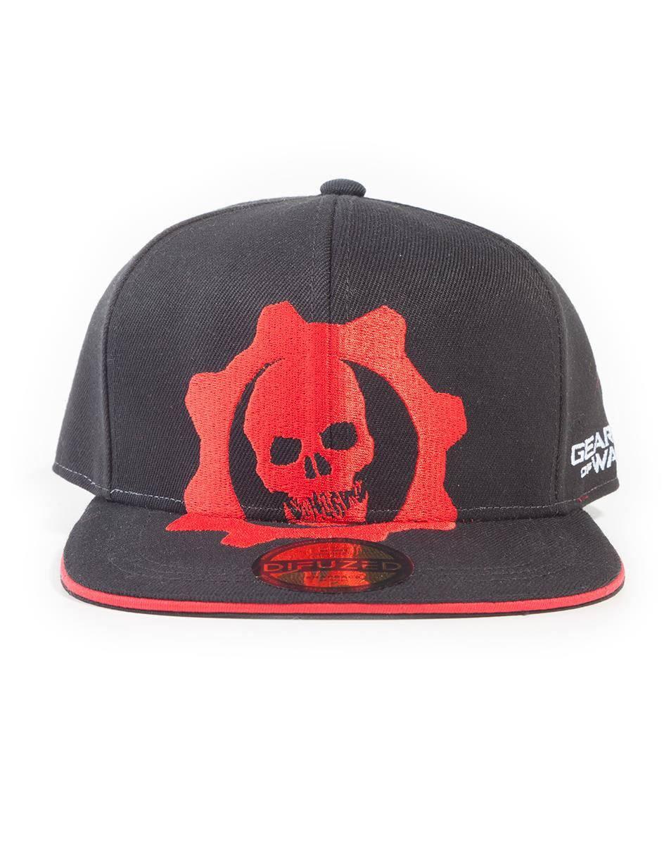 Gears Of War Snapback Cap Red Helmet