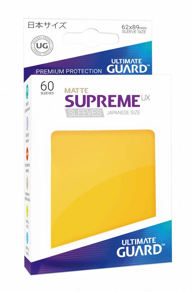 Ultimate Guard Supreme UX Sleeves Japanese Size Matte Yellow (60)