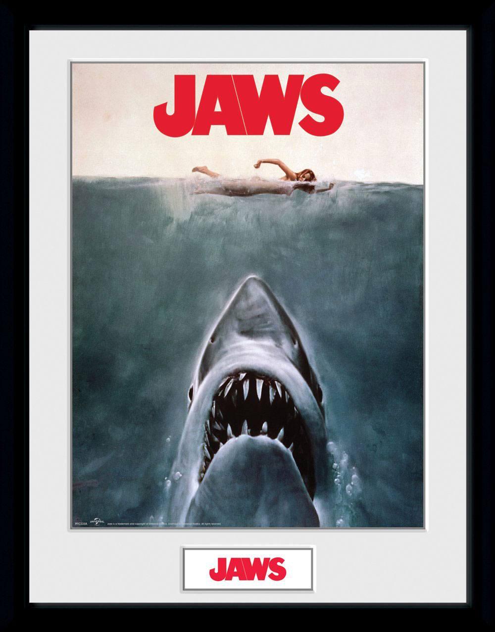 Jaws Framed Poster Key Art 45 x 34 cm