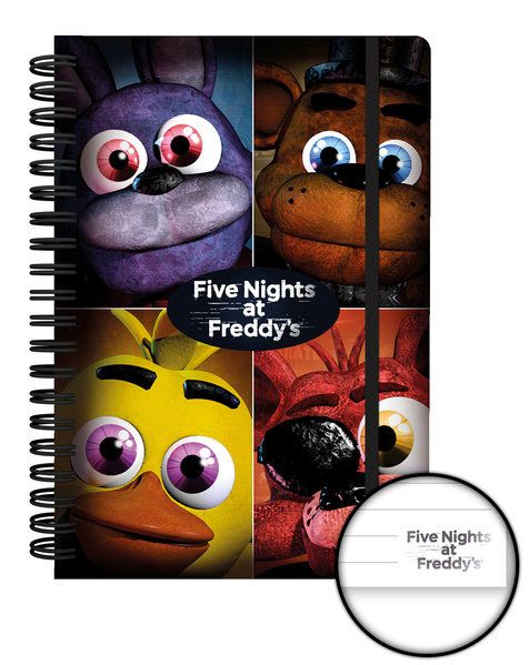 Five Nights at Freddy's Notebook A5 Quad Case (12)