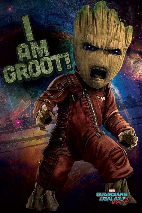 Guardians of the Galaxy Vol. 2 Poster Pack Angry Groot 61 x 91 cm (5)