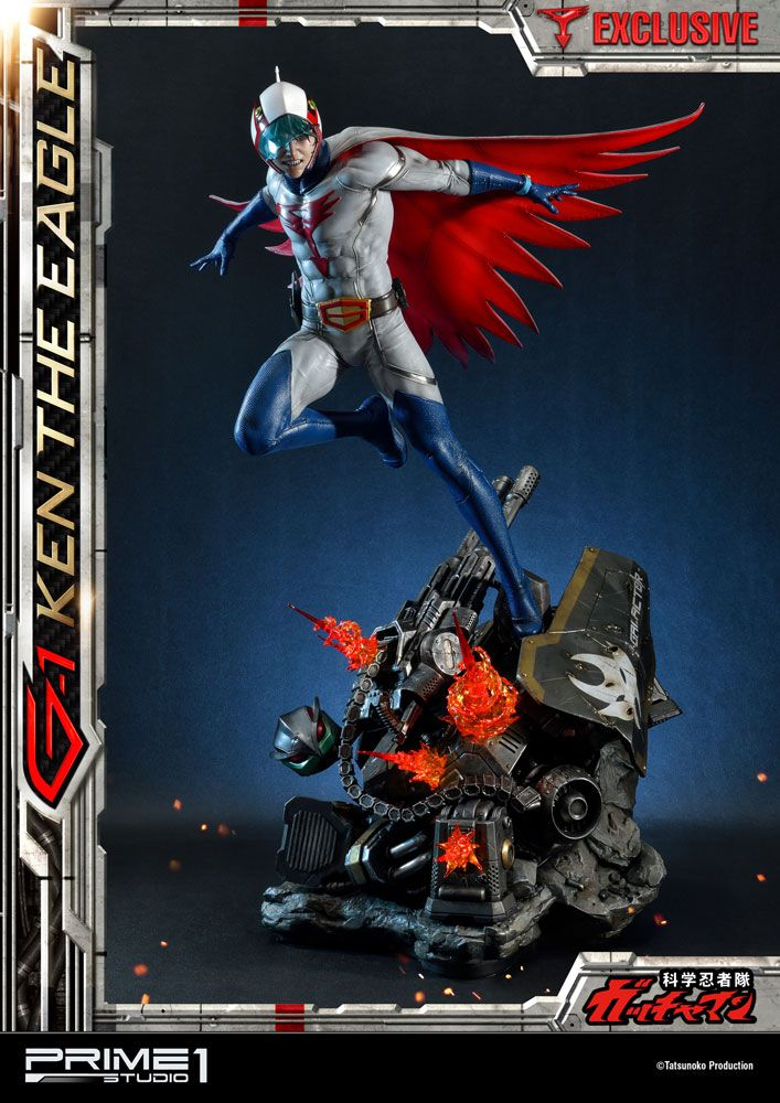 Science Ninja Team Gatchaman Statues 1/4 G-1 Ken the Eagle & Exclusive 73 cm Assortment (3)