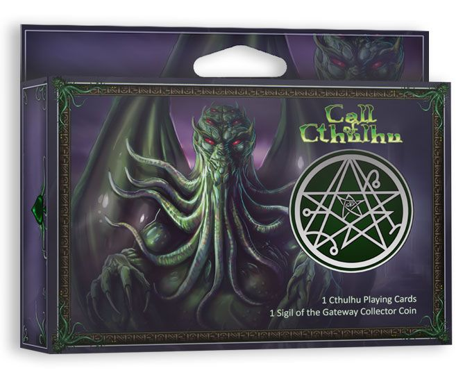 Call of Cthulhu Playing Cards with Collector Coin