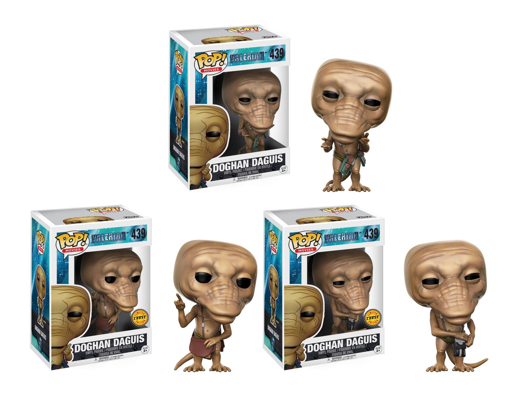Valerian and the City of a Thousand Planets POP! Movies Figures 9 cm Doghan Daguis Assortment (6)