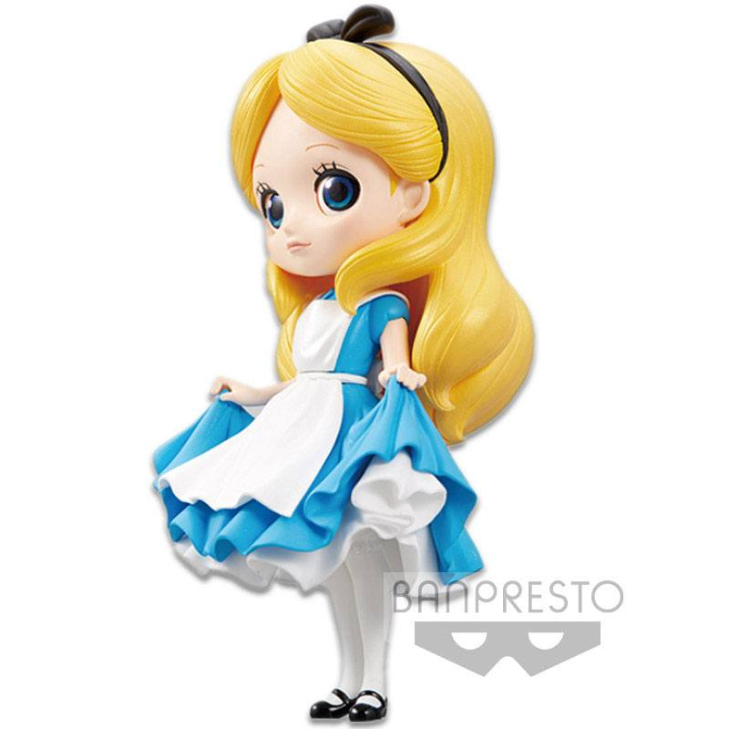 Disney Q Posket Mini Figure Alice A Normal Color Version 14 cm