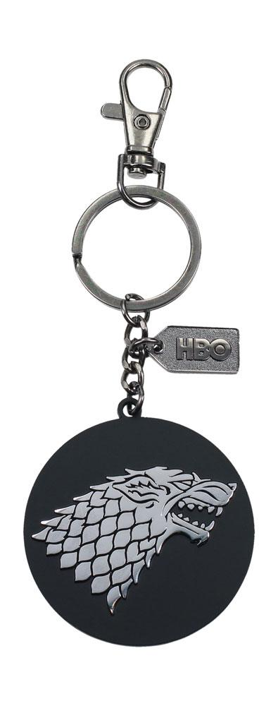Game of Thrones Metal Keychain Stark Silver Logo