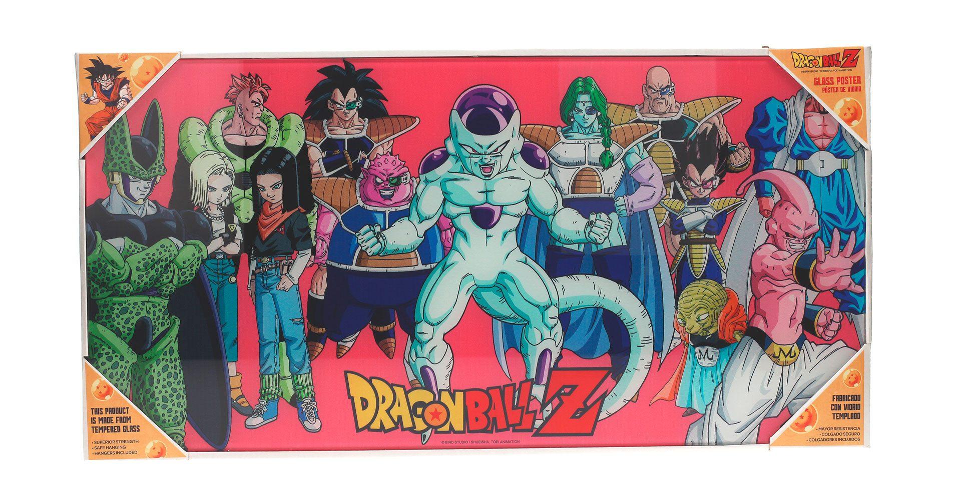 Dragonball Z Glass Poster Villains 30 x 60 cm