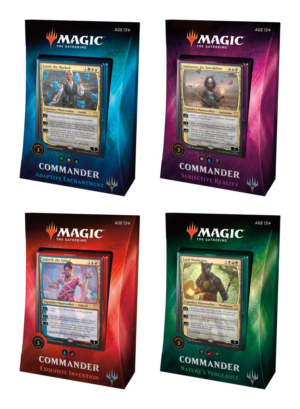 Magic the Gathering Commander 2018 Decks Display (4) spanish