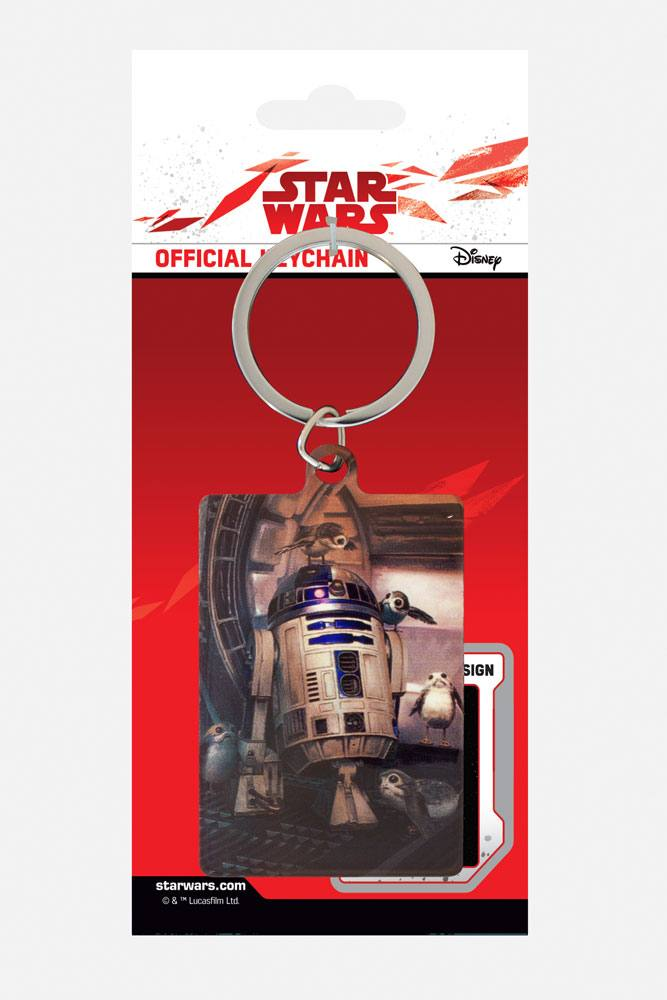 Star Wars Episode VIII Metal Keychain R2-D2 & Porgs 6 cm