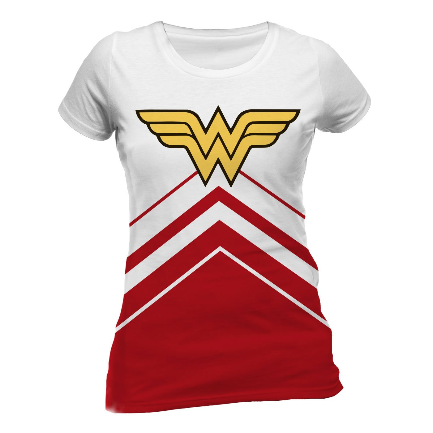 DC Comics Ladies T-Shirt Wonder Woman Cheerleader Logo Size XL
