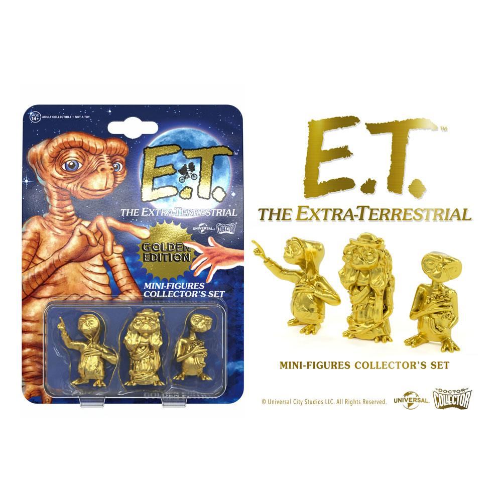 E.T. the Extra-Terrestrial Collector's Set Mini Figures 3-Pack Golden Edition 5 cm