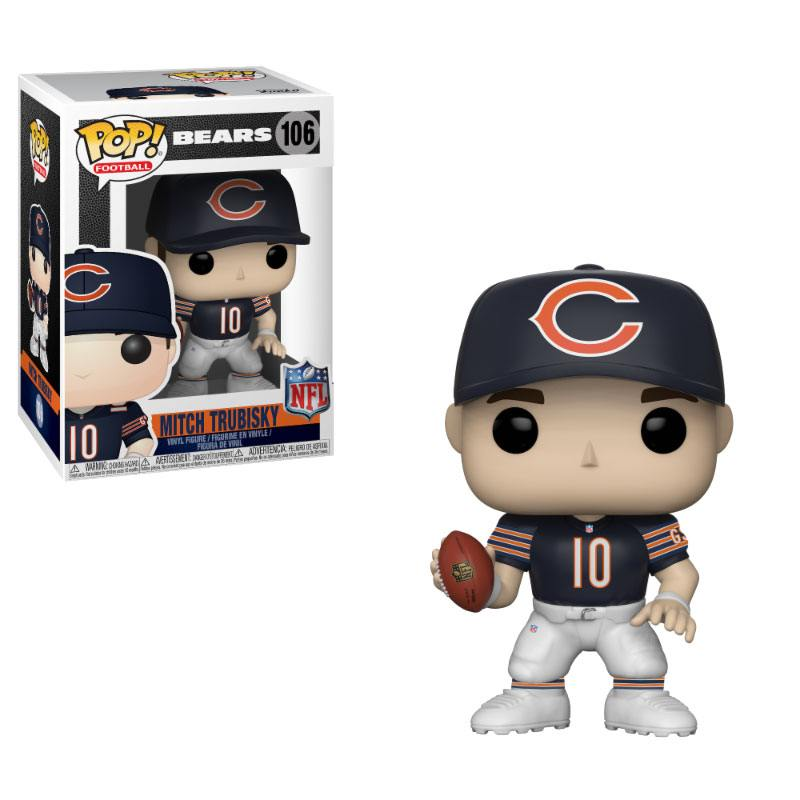 NFL POP! Football Vinyl Figure Mitch Trubisky (Bears) 9 cm