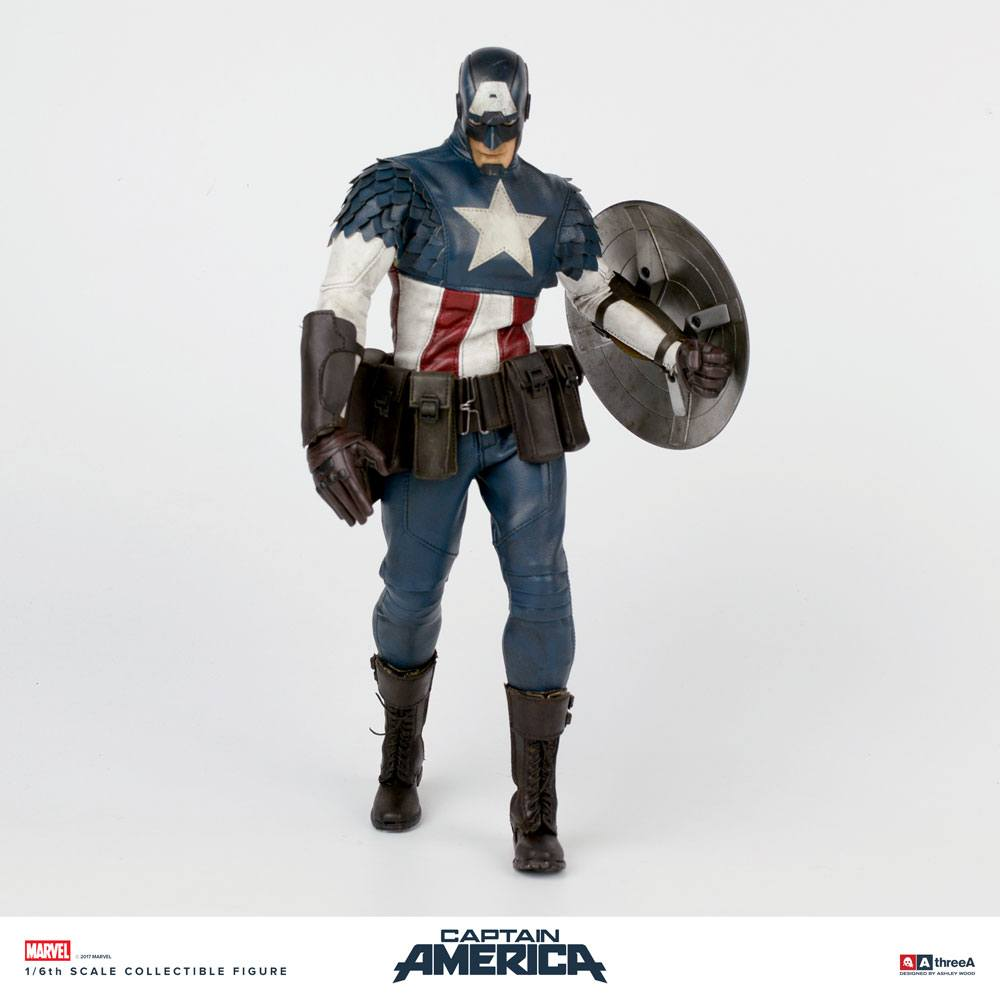 Marvel x ThreeA Action Figure 1/6 Captain America by Ashley Wood 32 cm