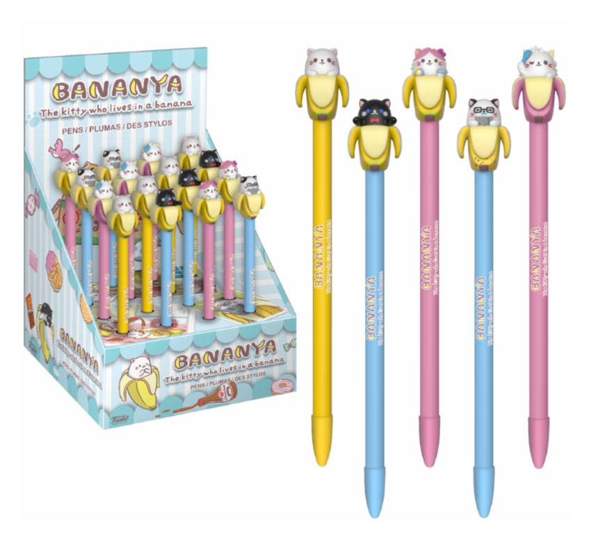 Bananya POP! Pens with Toppers Display Classic (16)