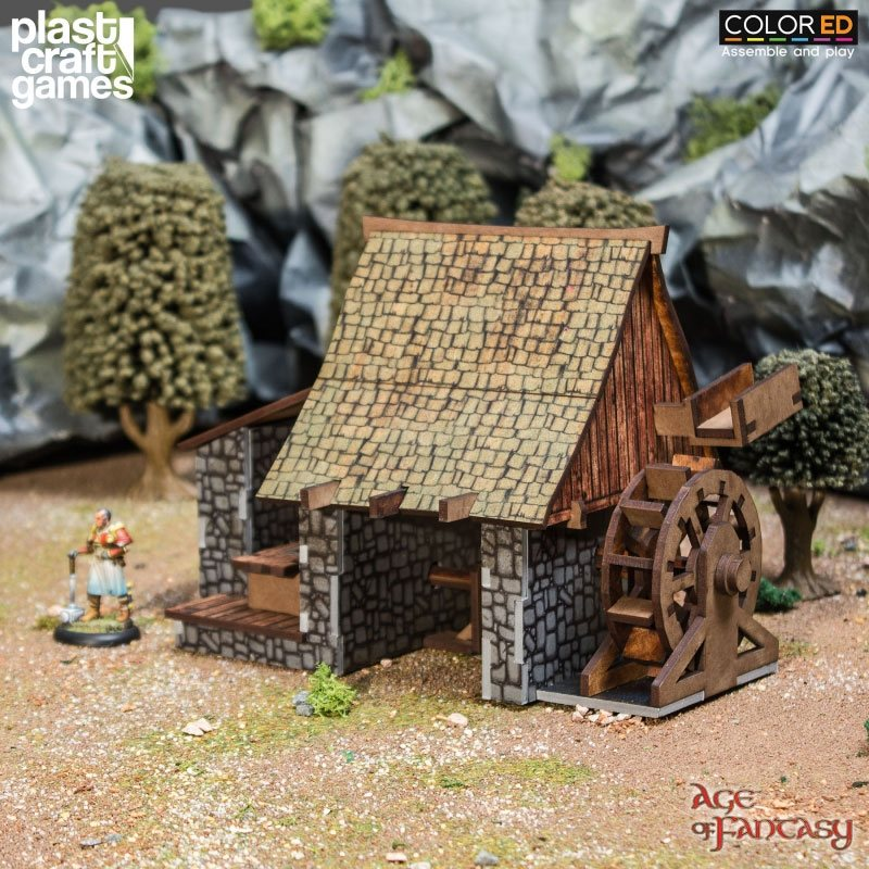 Age of Fantasy ColorED Miniature Gaming Model Kit 28 mm Lumber Mill