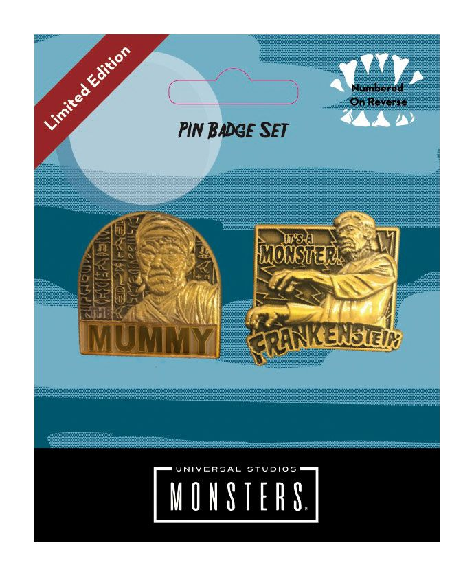 Universal Monsters Pin Badge 2-Pack Mummy & Frankenstein